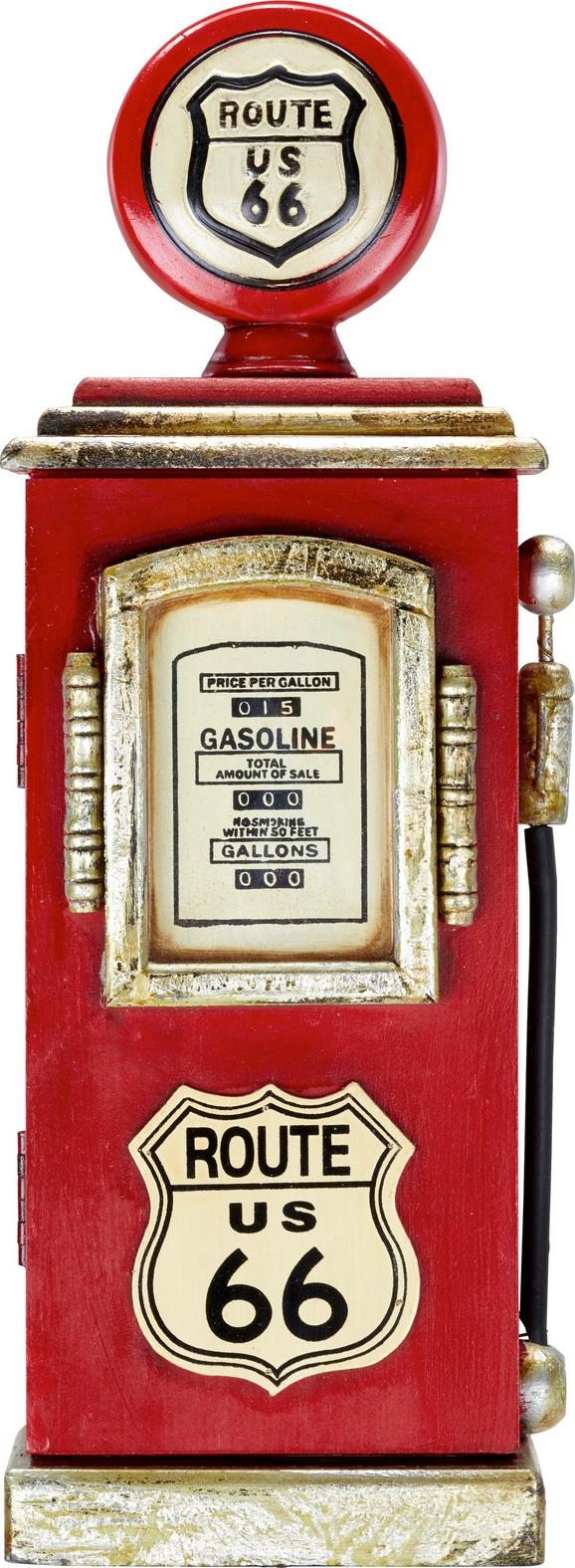 Kulcstartó Route 66 -sb- - piros, Lifestyle, faanyagok (17/48/8cm) - MÖMAX modern living