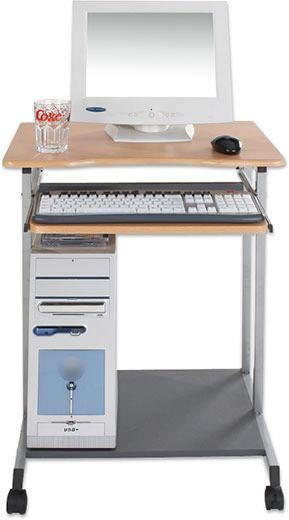Računalniška Miza Print - bukev, kovina/umetna masa (60/75/48cm) - Mömax modern living