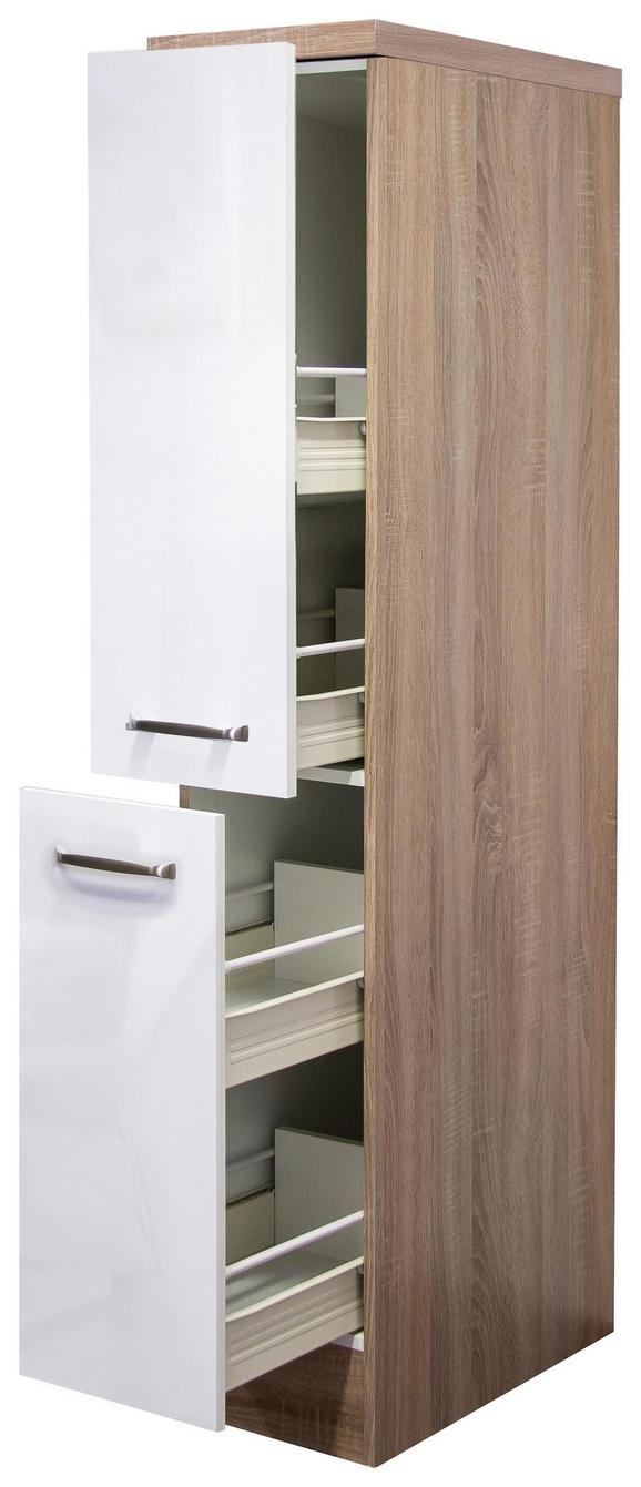 Izvlečna Omara Venezia-valero - bela/hrast, Moderno, kovina/leseni material (30/162/57cm)