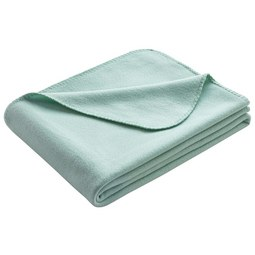 Fleecedecke Anni 130x170 cm - Mintgrün, MODERN, Textil (130/170cm) - Modern Living