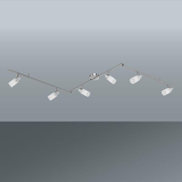Strahler Max, max. 3,8 Watt - Weiß/Nickelfarben, KONVENTIONELL, Glas/Metall (193cm) - MÖMAX modern living