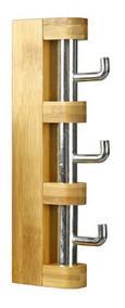Hakenleiste in Braun aus Bambus - Chromfarben/Naturfarben, MODERN, Holz/Metall (24,8/3/9,8cm) - MÖMAX modern living