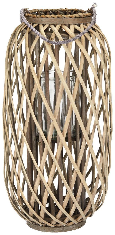 Laterne Lilian Grau - Grau, Natur, Glas/Holz (30/60cm)