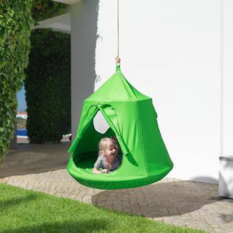 Hängezelt Leon - Grün, MODERN, Kunststoff/Textil (110/120cm) - Modern Living