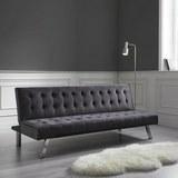 Sofa Roxy mit Schlaffunktion - Chromfarben/Dunkelgrau, MODERN, Holz/Textil (180/73/81-94cm) - Mömax modern living