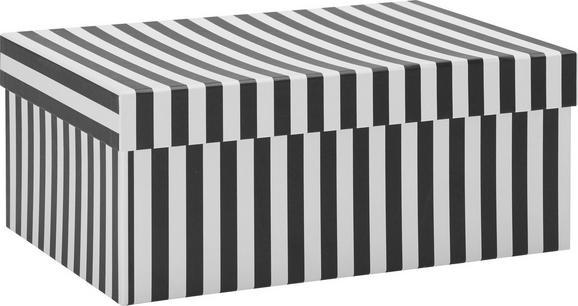 Geschenkbox Vera in Schwarz/Weiß - Schwarz/Weiß, MODERN, Karton (28/20/11,5cm) - MÖMAX modern living
