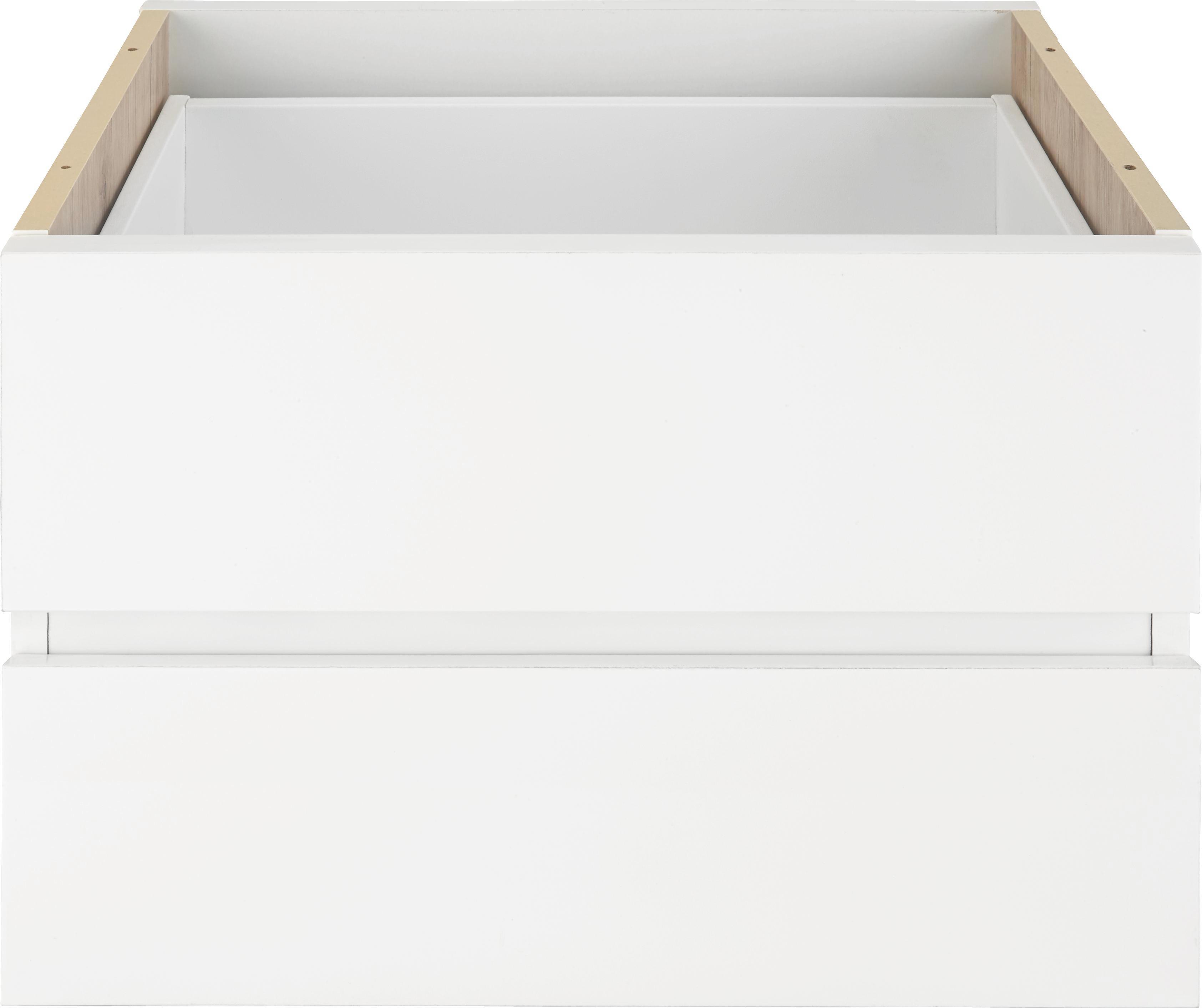 Schubkasteneinsatz in Weiß, 2er Set - Weiß, Holzwerkstoff (52/35/34cm) - MÖMAX modern living