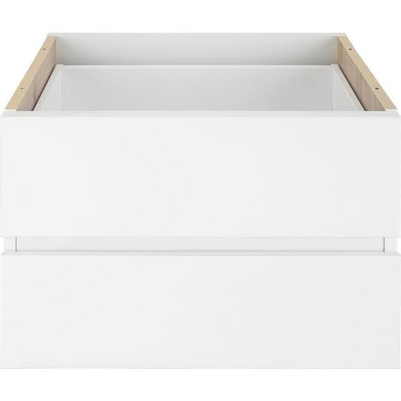 Schubkasteneinsatz in Weiß 2er Set - Weiß, Holzwerkstoff (52/35/34cm) - Mömax modern living