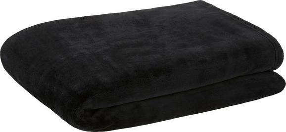 Pătură Pufoasă Kuschelix - Negru, Material textil (140/200cm)