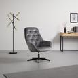 Sessel Marko - Dunkelgrau/Schwarz, MODERN, Textil/Metall (70,5/99/78cm) - Bessagi Home