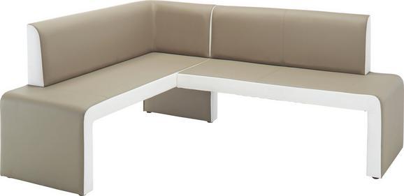 Eckbank Schlamm/Weiß - Schlammfarben/Weiß, MODERN, Holz (161/88/200cm) - Modern Living