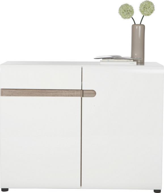 Komoda Linate - bela/hrast, Moderno (109/87/42cm) - Mömax modern living
