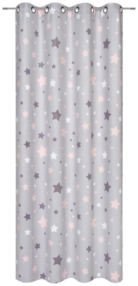 Készfüggöny Scarlett - Rózsaszín, romantikus/Landhaus, Textil (140/245cm) - Mömax modern living