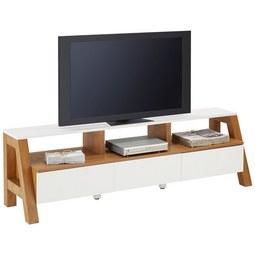TV Element Braun/Weiß   Braun/Weiß, MODERN, Holzwerkstoff (160