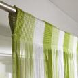 Fadenstore String Grün/Weiß - Weiß/Hellgrün, Textil (90/245cm) - Premium Living