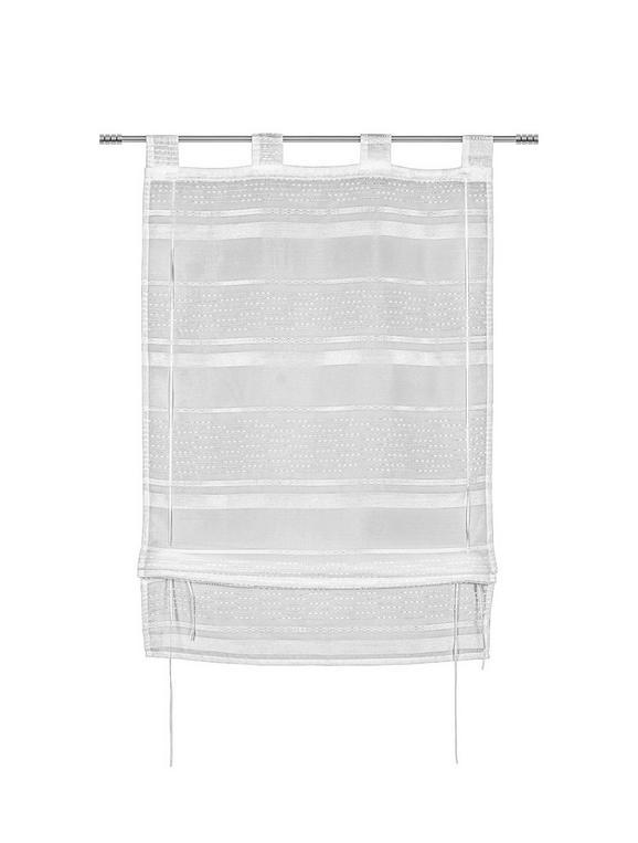 Bändchenrollo Adele in Weiß, ca. 60x140cm - Weiß, KONVENTIONELL, Textil (60/140cm) - Mömax modern living