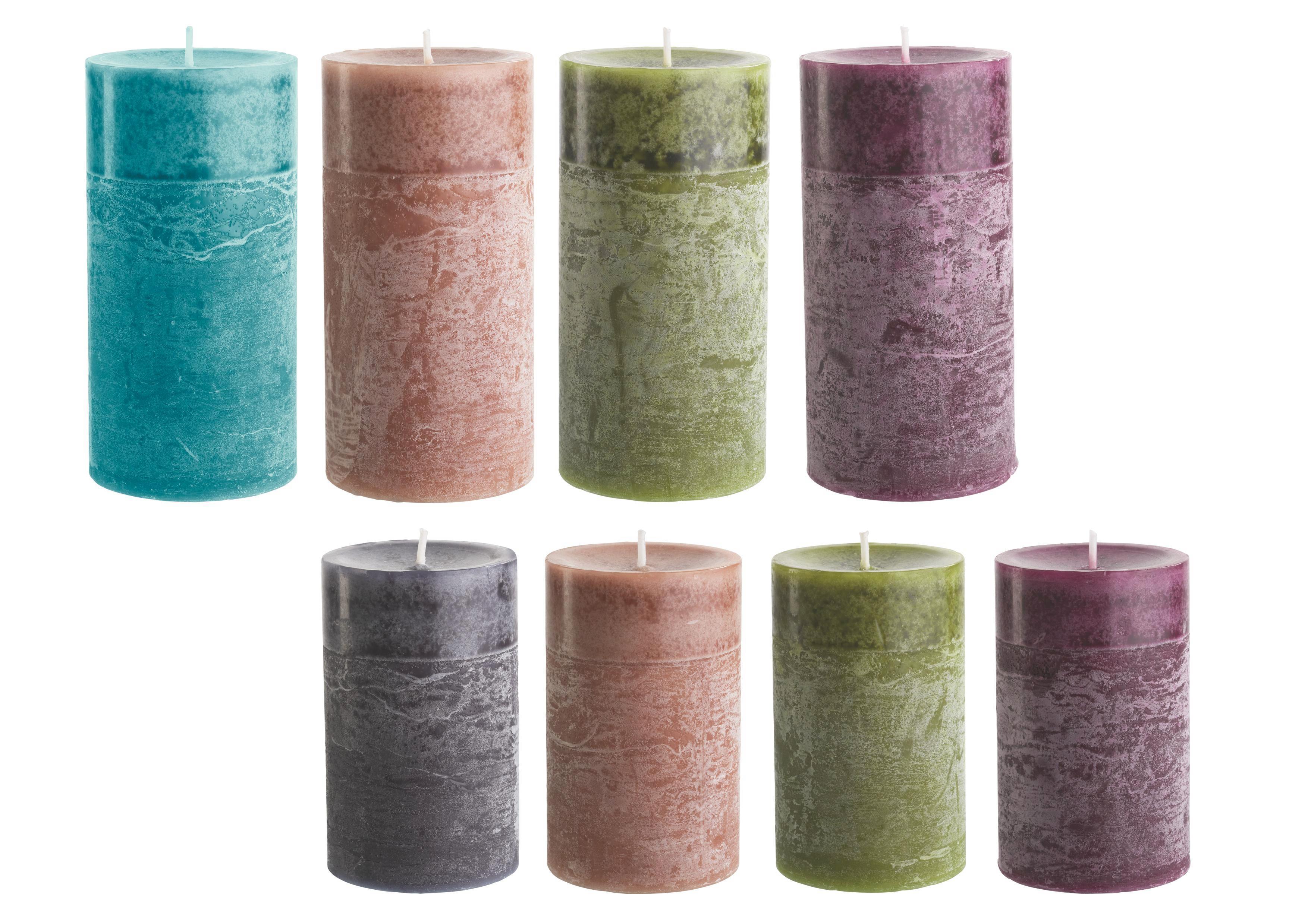 Stumpenkerze Holli in verschiedenen Farben - Hellbraun/Dunkelbraun, MODERN (7/14cm) - PREMIUM LIVING