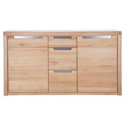 Sideboard aus Kernbuche Massiv - Silberfarben, KONVENTIONELL, Holz/Holzwerkstoff (163/91/40cm) - Zandiara