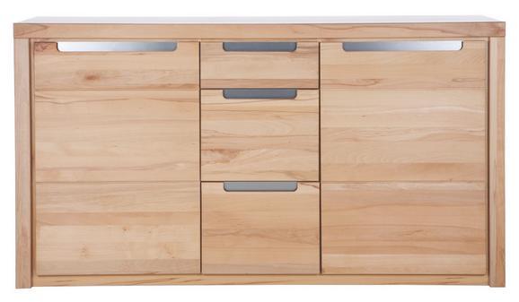 Sideboard Kernbuche - Silberfarben, KONVENTIONELL, Holz/Holzwerkstoff (163/91/40cm) - Zandiara