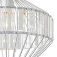 Hängeleuchte Lucy max. 60 Watt - Weiß, LIFESTYLE, Glas/Metall (30/120cm) - Modern Living