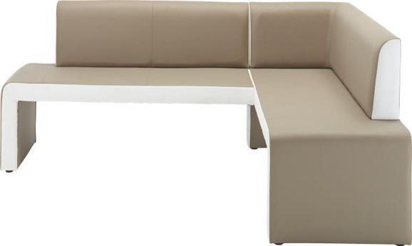 Kotna Klop Emmy Leva - odtenki umazano rjave/bela, Moderno, les (200/88/161cm) - Modern Living