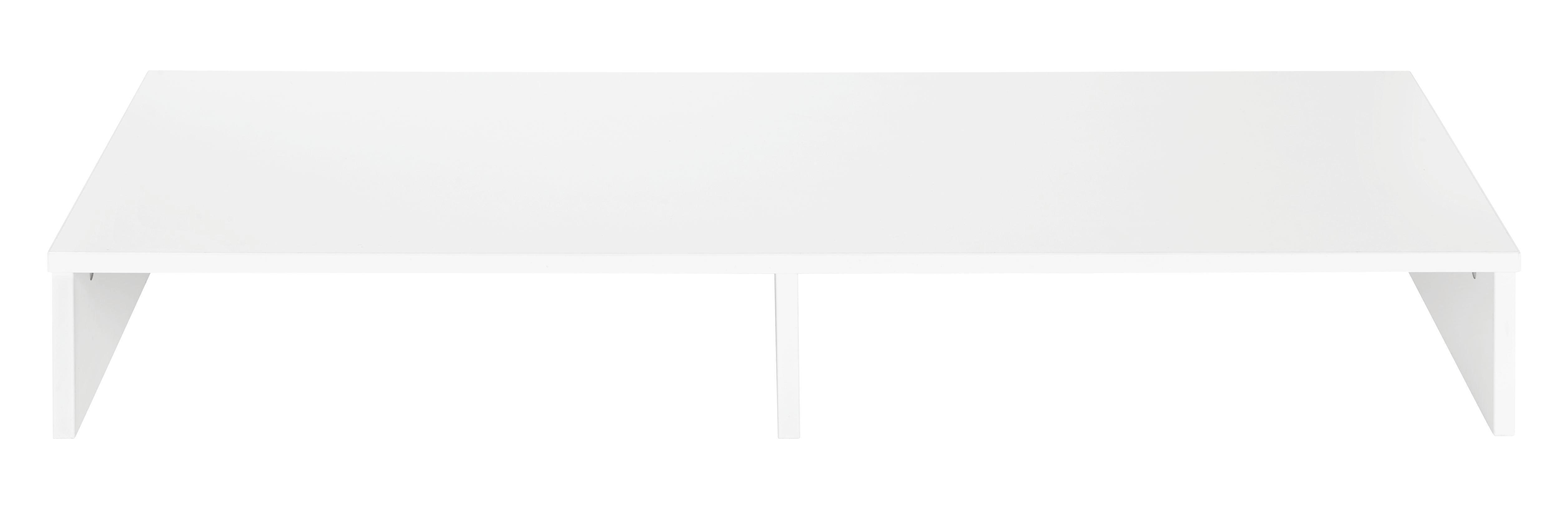 TV-Aufsatz Weiß - Weiß, Holz (99/14/34cm) - MÖMAX modern living