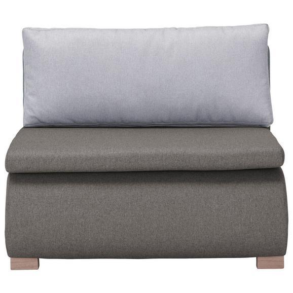 Schlafsessel in Anthrazit mit Rückenkissen - Anthrazit, KONVENTIONELL, Holz/Kunststoff (100/80/100-193cm) - Modern Living
