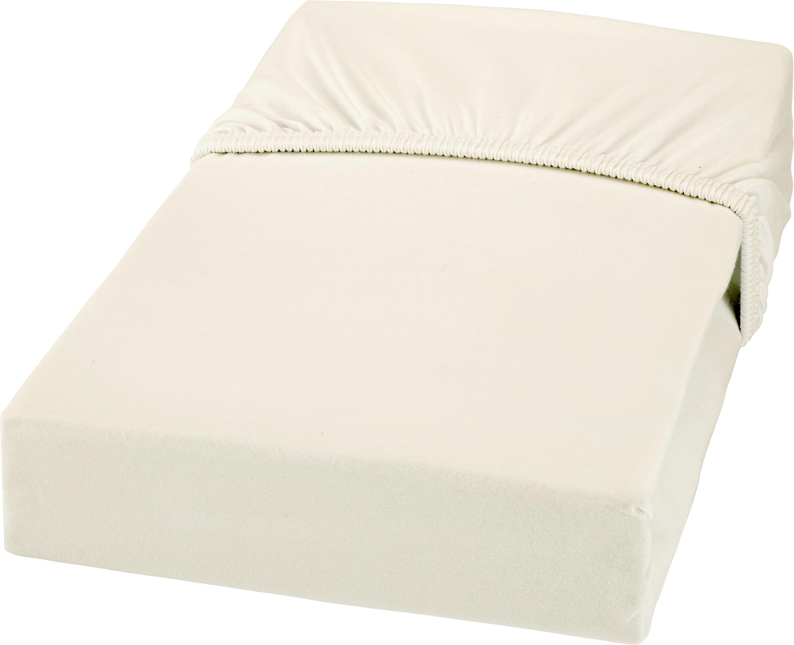 Spannbetttuch Jersey 180x200 cm - Naturfarben, MODERN, Textil (180/200cm) - MÖMAX modern living