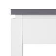 SITZBANK in Grau/Weiß 'Liana' - Weiß/Grau, MODERN, Holz (150/45,5/30cm) - Bessagi Home