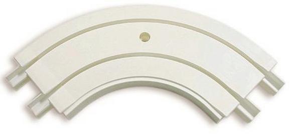 Félkörív Ge2 - fehér, műanyag (13,5cm)