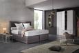 Boxspringbett Grau ca.180x200cm - Beige/Naturfarben, KONVENTIONELL, Holz/Textil (200cm) - Premium Living