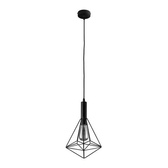 Pendelleuchte Pietro - Schwarz, MODERN, Metall (25/36cm) - Bessagi Home