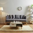 Sofa Mina Dreisitzer inkl. Kissen - Grau, MODERN, Holz/Textil (190/81/78cm) - Modern Living