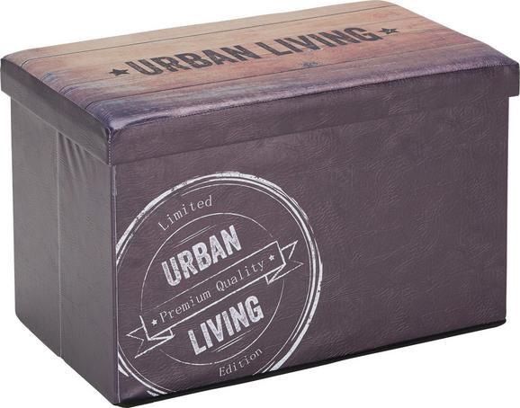 Sitzbox Dunkelbraun - Dunkelbraun, MODERN (65/40/40cm) - Mömax modern living