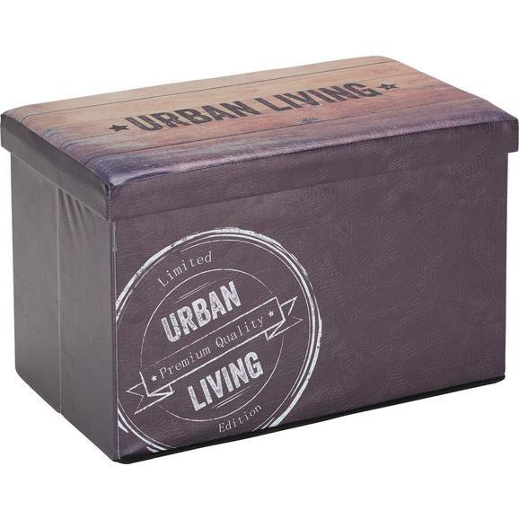Zaboj Za Sedenje Urban Vintage -sb- - temno rjava, Moderno (65/40/40cm) - Mömax modern living