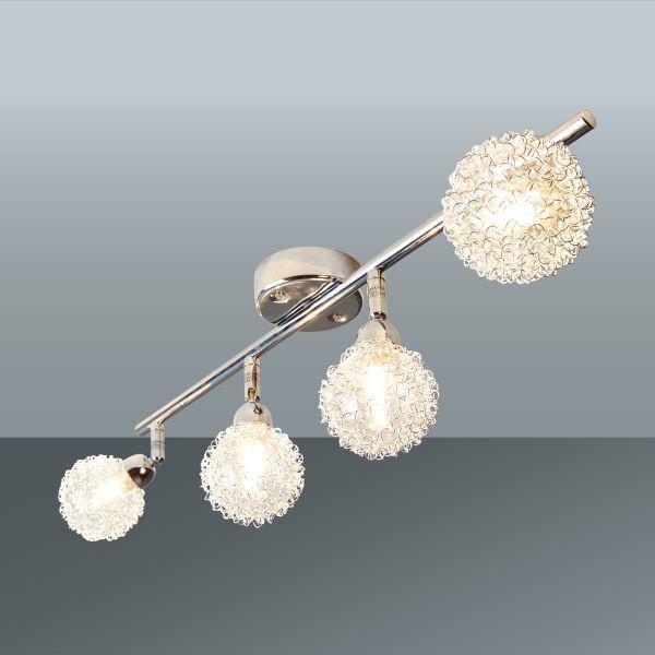 Reflektor Mia - barve kroma, Moderno, kovina/steklo (56/17cm) - MÖMAX modern living