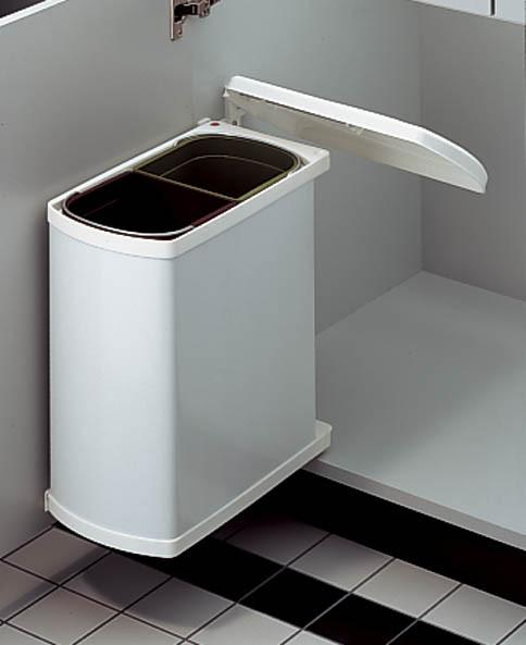 abfallsammler 601611 - Braun/Weiß, Kunststoff (38,9/41,2/20,3cm)