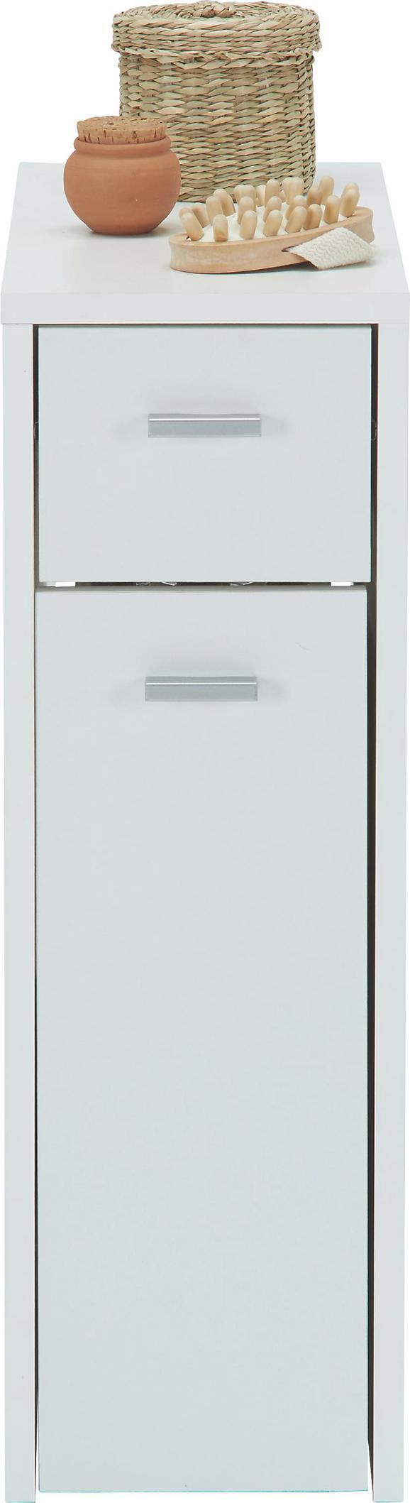 Unterschrank in Weiß - Silberfarben/Schwarz, Holzwerkstoff/Kunststoff (20,0/61,0/45,0cm) - MÖMAX modern living