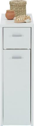 Unterschrank Weiß - Silberfarben/Schwarz, Holzwerkstoff/Kunststoff (20,0/61,0/45,0cm) - Mömax modern living