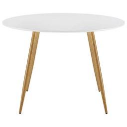 Esstisch John Ø ca. 110 cm - Weiß, MODERN, Holzwerkstoff/Metall (110/76cm) - Modern Living