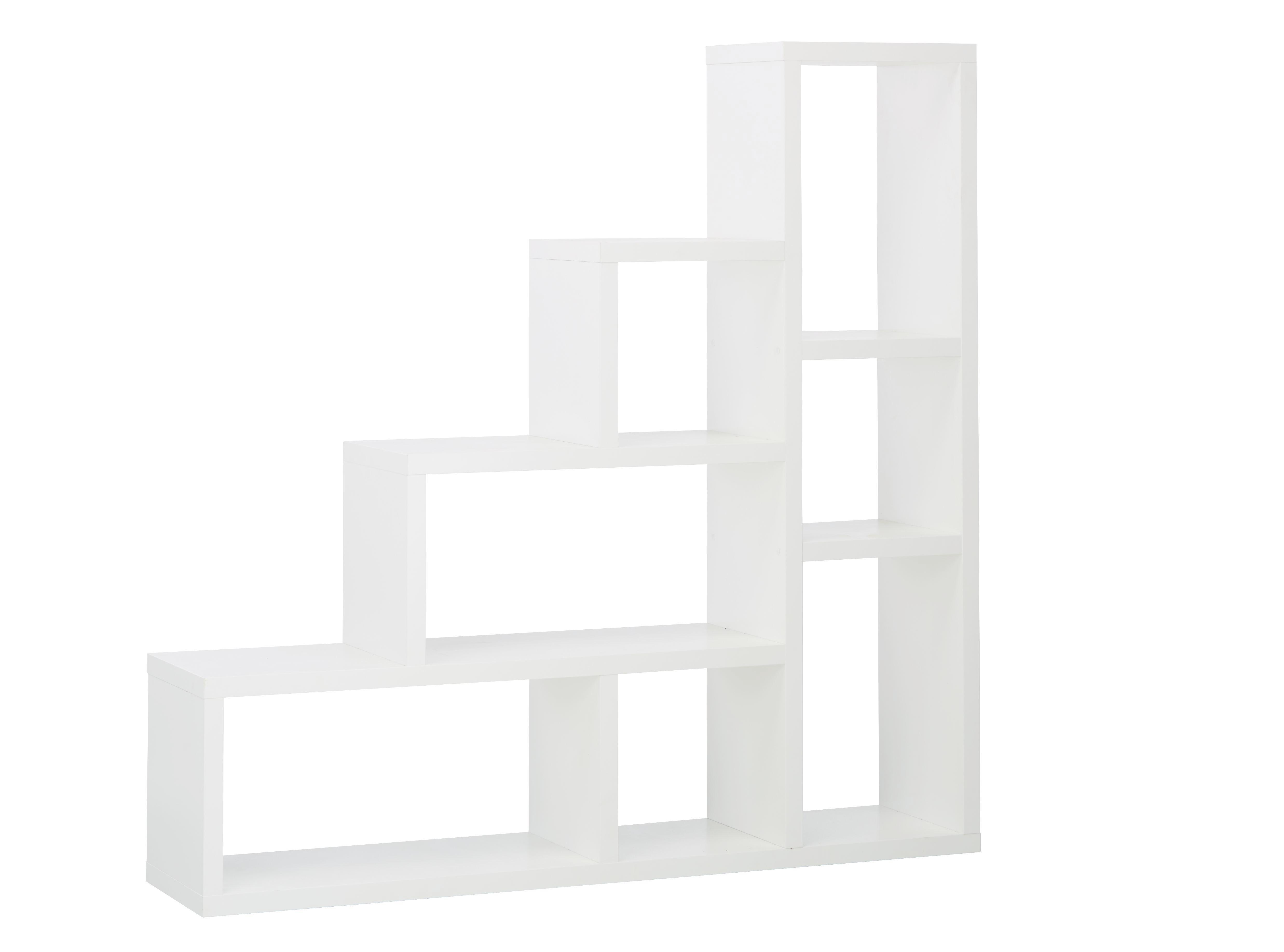 Raumteiler in Weiß mit 7 Fächern - Weiß, MODERN, Holzwerkstoff (155/155/35cm) - MÖMAX modern living