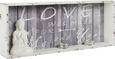 Stenski Regal Alexis - bela/antracit, Trendi, leseni material (76/30/12cm)