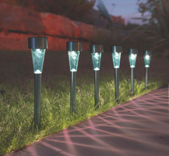 Solarna Svetilka Alois - prozorna/nerjaveče jeklo, kovina/umetna masa (4,7/4,7/35cm) - Mömax modern living