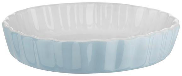Auflaufform Pura in Blau aus Keramik - Blau, MODERN, Keramik (16,2/3,5/16,2cm)