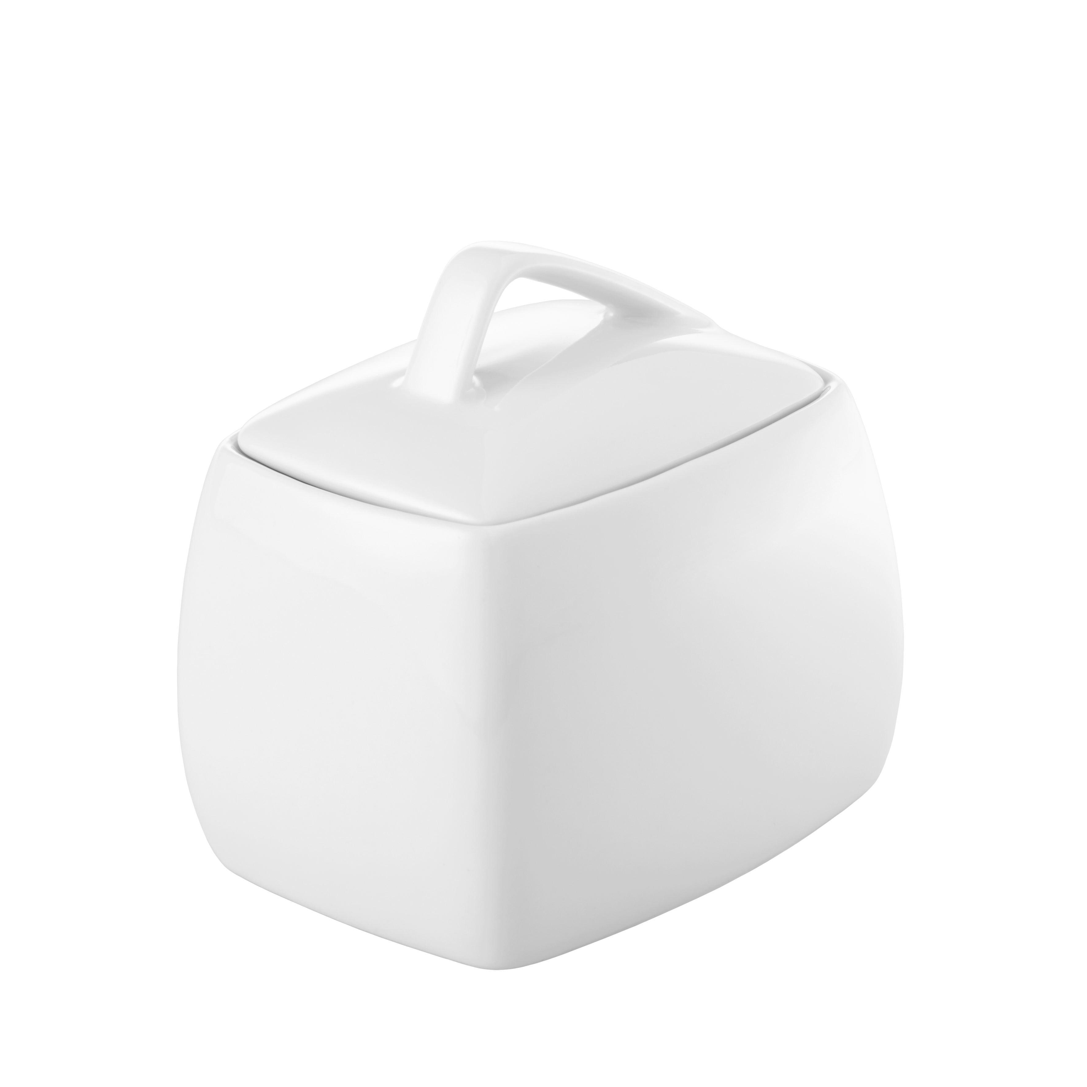 zuckerdose Opera in Weiß - Weiß, MODERN, Keramik (10/10/8cm) - MÖMAX modern living