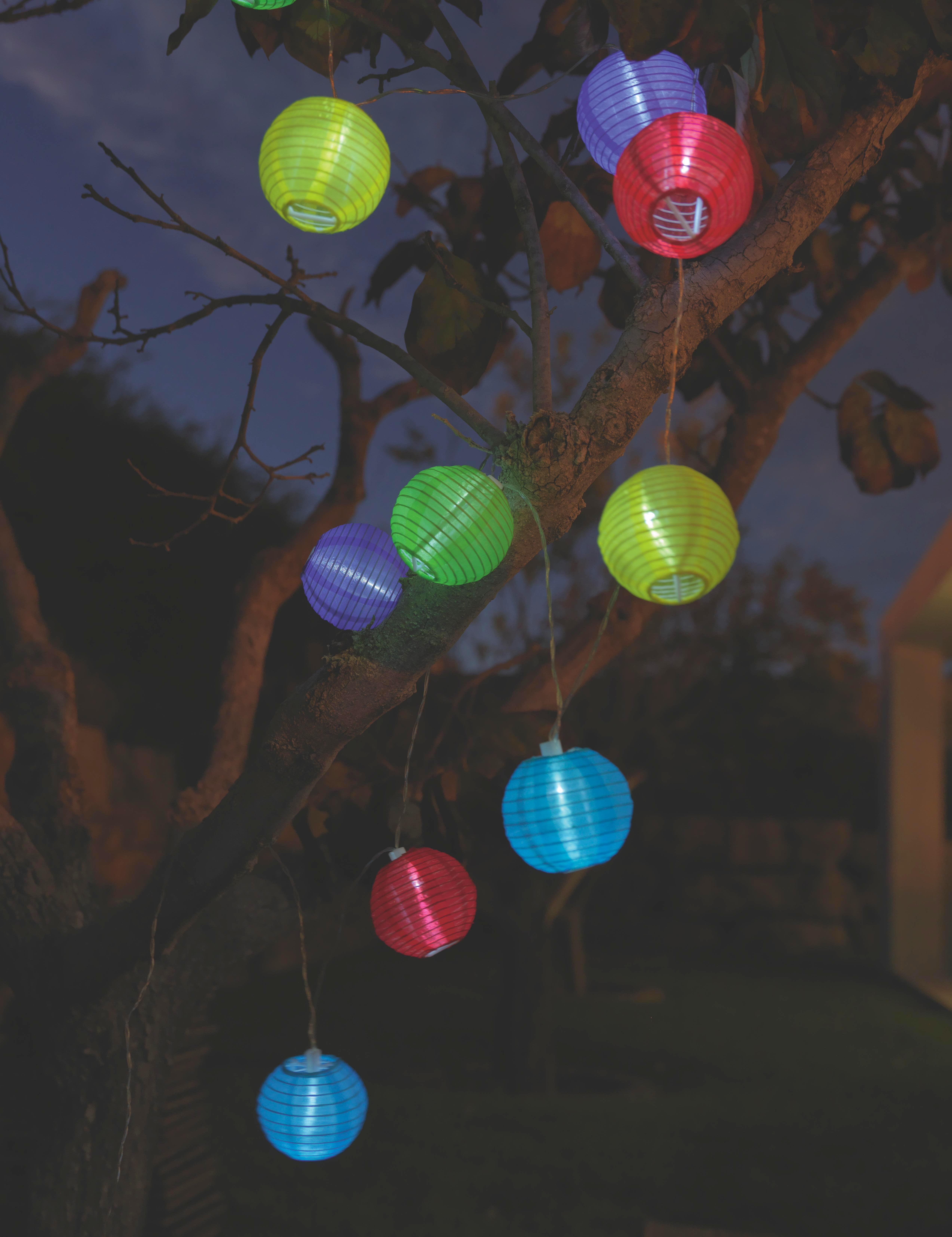 Solarleuchte Lampion, max. 0,06 Watt - Multicolor, Kunststoff (300cm) - MÖMAX modern living