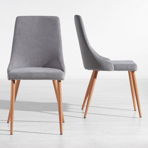 Stuhl Matti - Grau, MODERN, Holz/Textil (44/92/58cm) - Mömax modern living