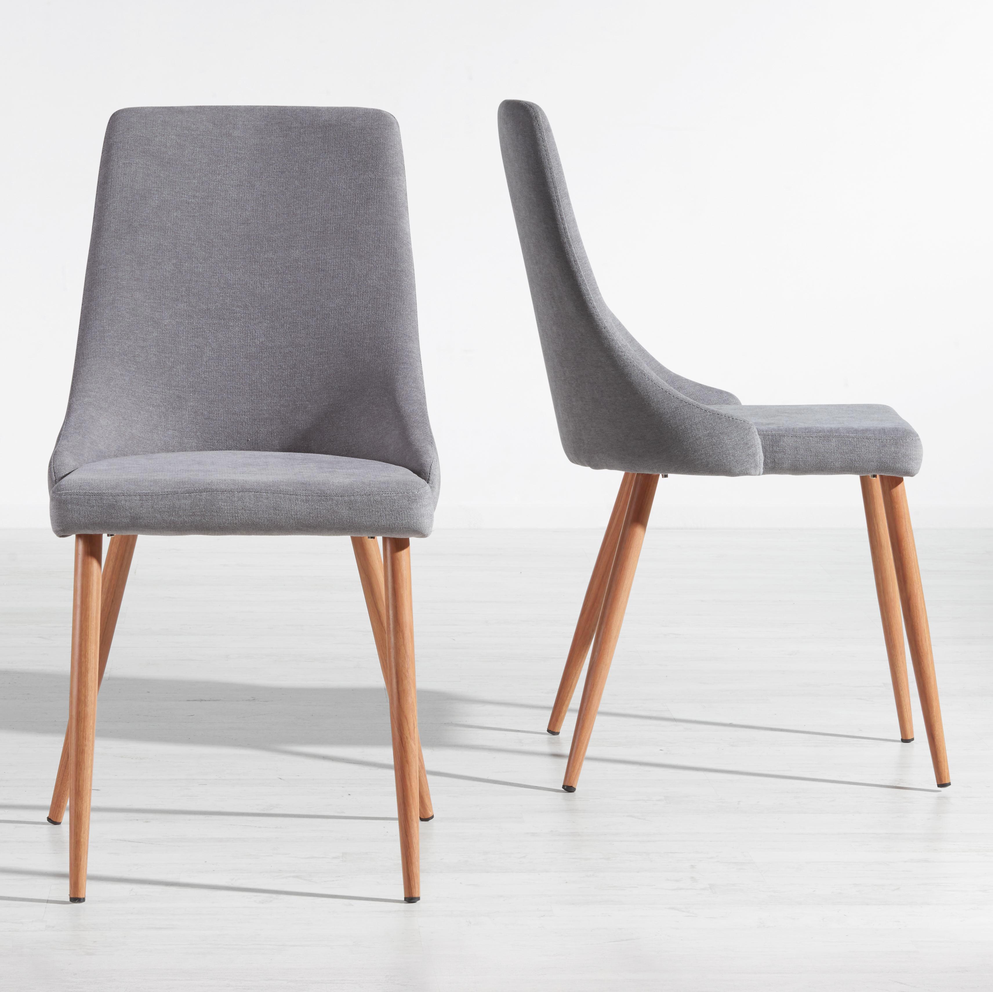 Stuhl Matti - Grau, MODERN, Kunststoff/Textil (44/92/58cm) - MÖMAX modern living