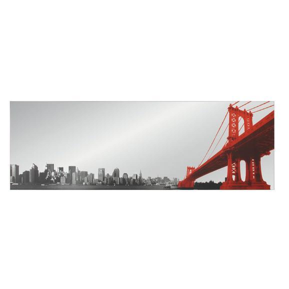 Ogledalo Manhattan - rdeča/črna, Moderno (50/150cm) - Mömax modern living