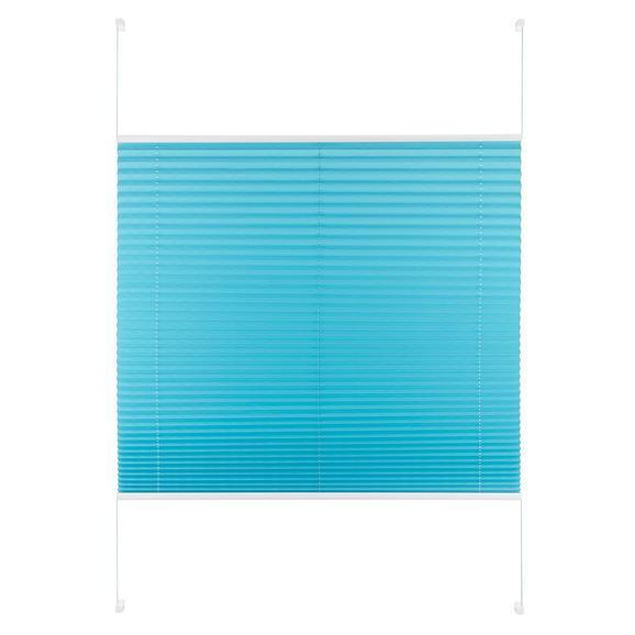 Plissee Free in Petrol ca. 100x130cm - Petrol, Textil (100/130cm) - Premium Living